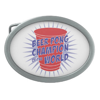Beer Pong Champion of the World belt buckle