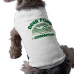 Beer Pong Champion Pet Tshirt