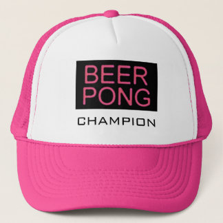 Beer Pong-Champion Pink Trucker Hat