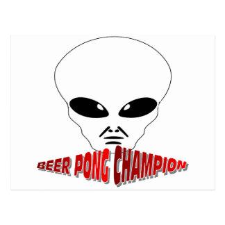 Beer Pong Champion Postcard