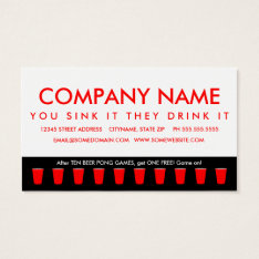 beer pong champion punch card at Zazzle