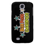 Beer pong champion retro design with stars samsung galaxy s4 cover