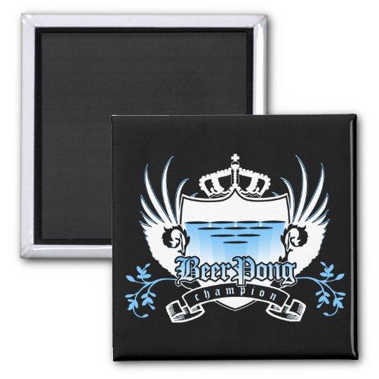 beer pong champion royal crest magnet