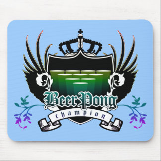 beer pong champion royal crest mouse pad