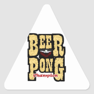Beer Pong Champion Triangle Sticker