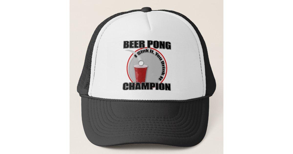 Beer Pong Champion Trucker Hat  197246210b0