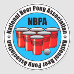 Beer Pong Classic Round Sticker
