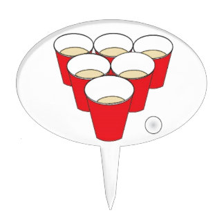 Beer Pong Cups Cake Topper