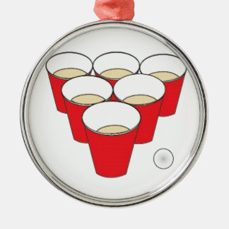 Beer Pong Cups Christmas Tree Ornament