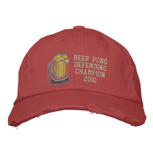 Beer Pong Defending Champion Embroidered Baseball Cap