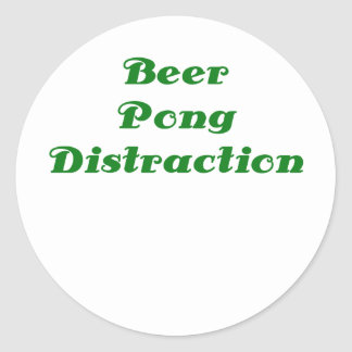 Beer Pong Distraction Classic Round Sticker