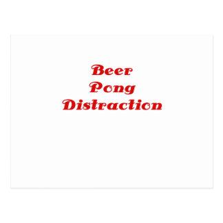 Beer Pong Distraction Postcard