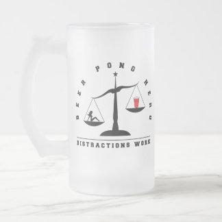 Beer Pong Distractions Work Glass Mug