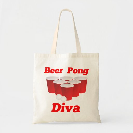 Beer Pong Diva Totes and Bags