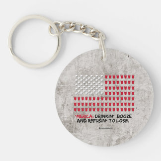 Beer Pong - Drinkin' Booze and Refusin' to Lose Single-Sided Round Acrylic Keychain