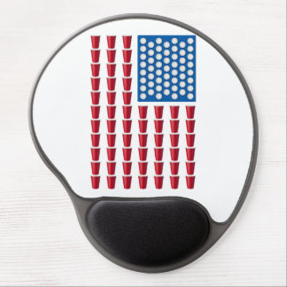 Beer Pong Drinking Game American Flag Gel Mouse Mats
