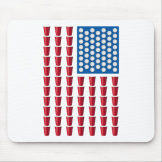 Beer Pong Drinking Game American Flag Mousepads