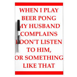 beer pong Dry-Erase board