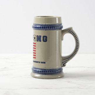 Beer Pong Flag Stein Coffee Mugs