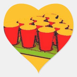 Beer Pong Heart Sticker
