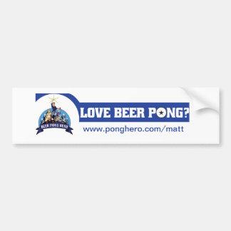 Beer Pong Hero Promo Bumper Sticker 2