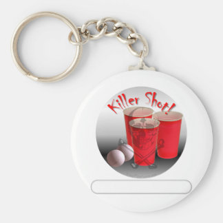 Beer Pong, Killer Shot personalize it Basic Round Button Keychain