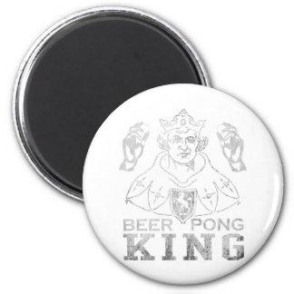 Beer Pong King 2 Inch Round Magnet