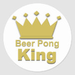 Beer Pong King #2 Round Sticker