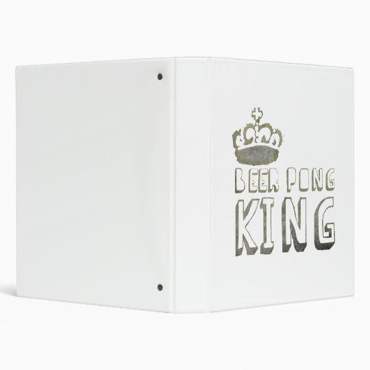 Beer Pong King 3 Ring Binder