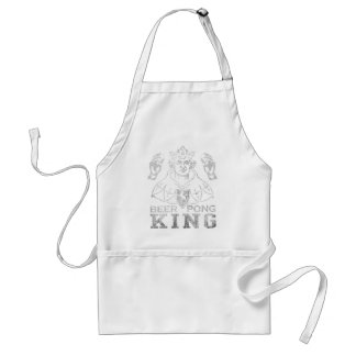 Beer Pong King Adult Apron