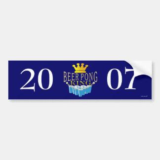 Beer Pong King Bumper Sticker