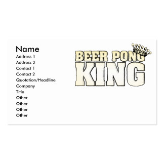 Beer Pong King Business Card