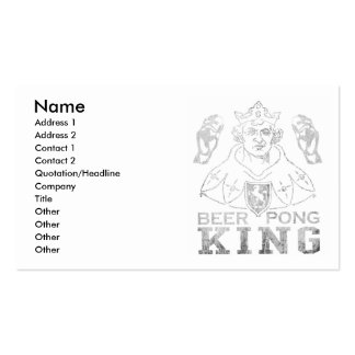 Beer Pong King Double-Sided Standard Business Cards (Pack Of 100)