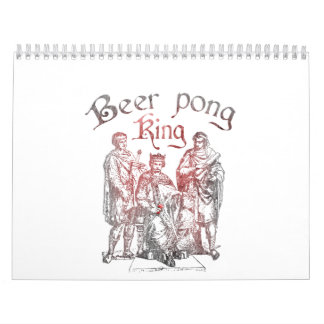Beer Pong King Calendar