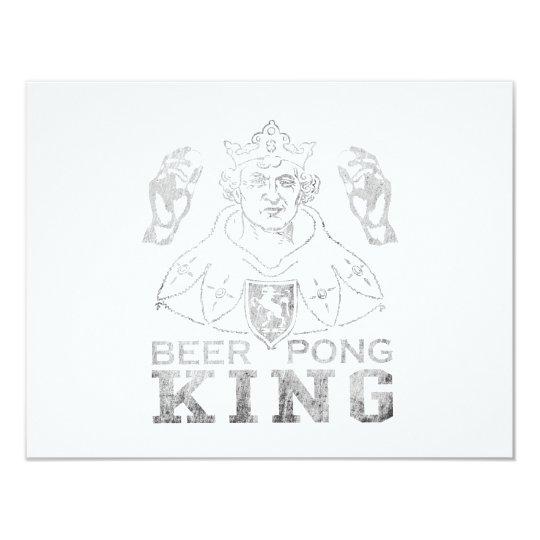 Beer Pong King Card