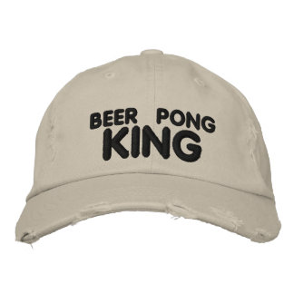 Beer Pong King Embroidered Baseball Hat
