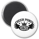 Beer Pong King Fridge Magnet