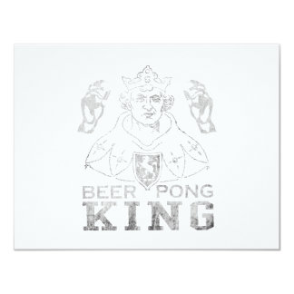 Beer Pong King 4.25x5.5 Paper Invitation Card