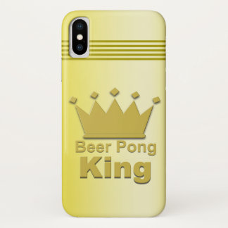 Beer Pong King iPhone X Case