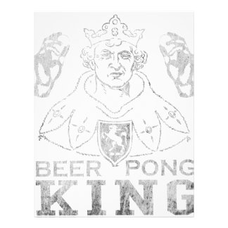 Beer Pong King Letterhead