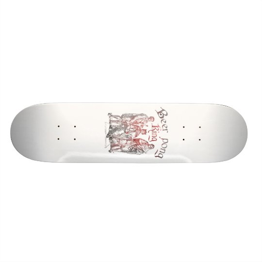 Beer Pong King Skateboard Deck