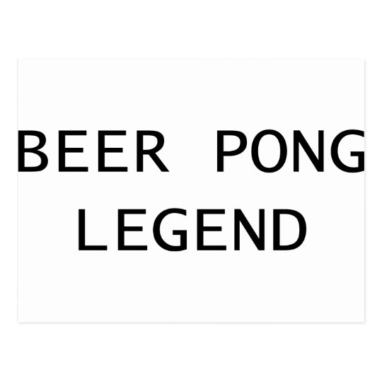 Beer Pong Legend Postcard