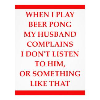 beer pong letterhead