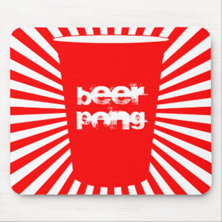 beer pong mouse pad