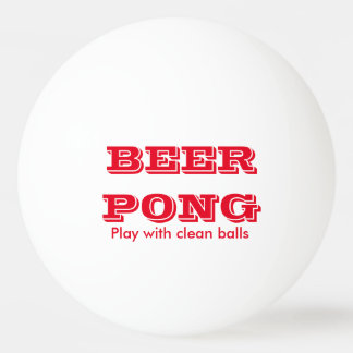 Beer Pong Play With Clean Balls 1 Ping-Pong Ball