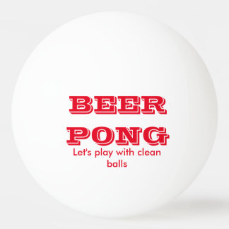 Beer Pong Play With Clean Balls Ping-Pong Ball