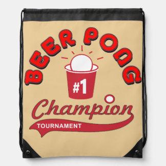Beer Pong Players Bag Drawstring Bags