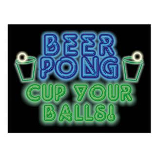 Beer Pong Postcard