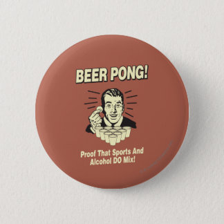 Beer Pong: Proof Alcohol & Sports Mix Button