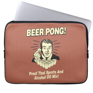 Beer Pong: Proof Alcohol & Sports Mix Computer Sleeve